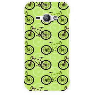Snooky Printed Cycle Mobile Back Cover For Samsung Galaxy Ace J1 - Green
