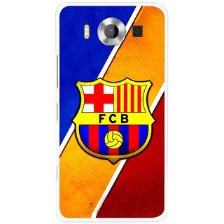 Snooky Printed Football Club Mobile Back Cover For Microsoft Lumia 950 - Multicolour
