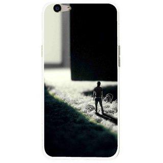 Snooky Printed God Door Mobile Back Cover For Oppo F1s - Multi