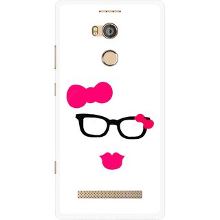 Snooky Printed Pinky Girl Mobile Back Cover For Gionee Elife E8 - Multicolour