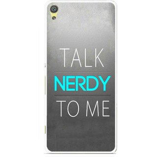 Snooky Printed Talk Nerdy Mobile Back Cover For Sony Xperia XA - Multicolour