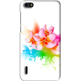 Snooky Printed Colorfull Flowers Mobile Back Cover For Huawei Honor 6 - Multi