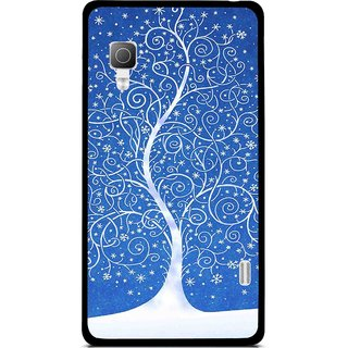 Snooky Printed Wish Tree Mobile Back Cover For Lg Optimus L5II E455 - Blue