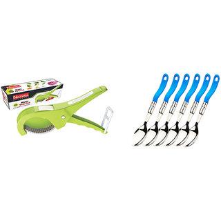 Multi Veg. Cut ABS (5 Laser Blade, 45mm) WITH  Dessert Fork (Deluxe) (6 Pcs. Set)