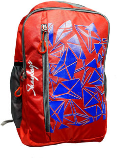 kart red fancy school backpack (laptop)