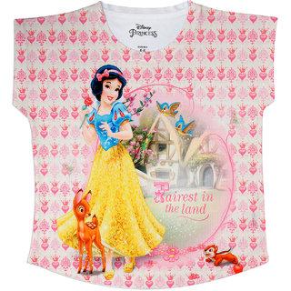Disney Princess Pink Polyester Top For Girls