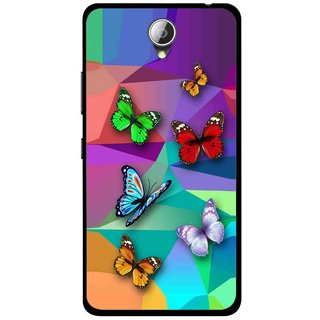 Snooky Printed Trendy Buterfly Mobile Back Cover For Lenovo A5000 - Multicolour