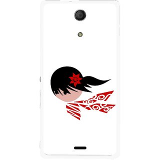 Snooky Printed Caty Girl Mobile Back Cover For Sony Xperia ZR - Multicolour