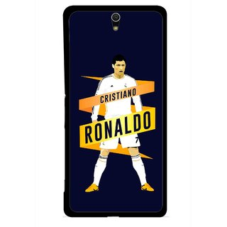 Snooky Printed Ronaldo Mobile Back Cover For Sony Xperia C5 - Multicolour