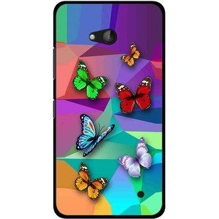 Snooky Printed Trendy Buterfly Mobile Back Cover For Nokia Lumia 640 - Multicolour