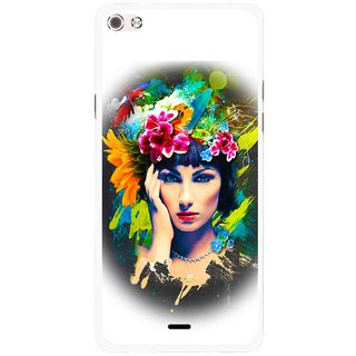 Snooky Printed Classy Girl Mobile Back Cover For Micromax Canvas Sliver 5 Q450 - Multi