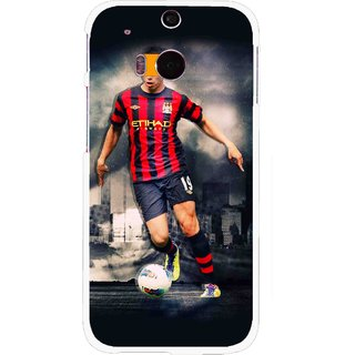 Snooky Printed Football Mania Mobile Back Cover For HTC One M8 - Multicolour