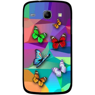 Snooky Printed Trendy Buterfly Mobile Back Cover For Samsung Galaxy Core - Multicolour