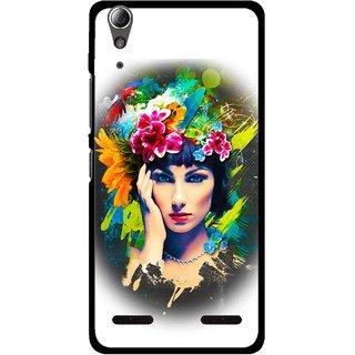 Snooky Printed Classy Girl Mobile Back Cover For Lenovo A6000 Plus - Multi