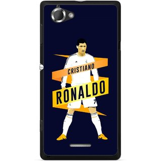 Snooky Printed Ronaldo Mobile Back Cover For Sony Xperia L - Multicolour