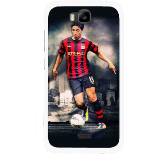 Snooky Printed Football Mania Mobile Back Cover For Huawei Honor Bee - Multicolour