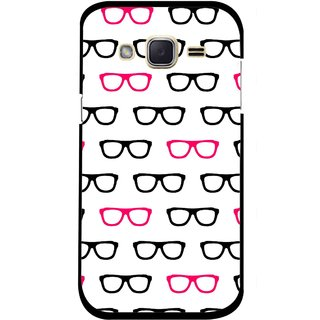 Snooky Printed Spectacles Mobile Back Cover For Samsung Galaxy j2 - Multi