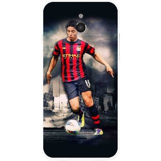 Snooky Printed Football Mania Mobile Back Cover For Infocus M2 - Multicolour