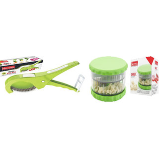Multi Veg. Cut ABS (5 Laser Blade, 45mm) WITH  Garlic  Multi Crusher (ABS)