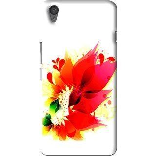 Snooky Printed Flowery Red Mobile Back Cover For One Plus X - Multi