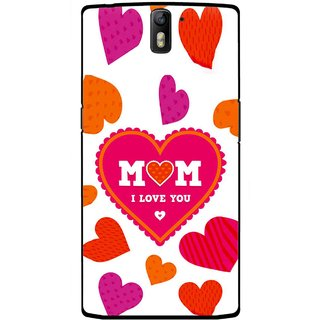 Snooky Printed Mom Mobile Back Cover For OnePlus One - Multicolour