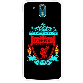 Snooky Printed Football Club Mobile Back Cover For HTC Desire 326G - Black