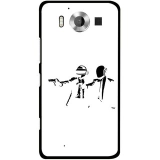 Snooky Printed Gangster Mobile Back Cover For Microsoft Lumia 950 - Multicolour