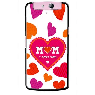 Snooky Printed Mom Mobile Back Cover For Oppo N1 - Multicolour