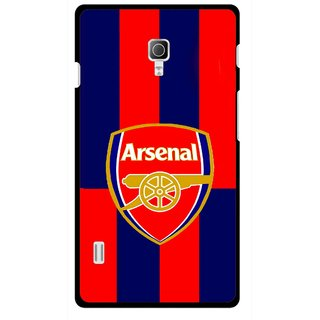 Snooky Printed Sports Logo Mobile Back Cover For Lg Optimus L7 II P715 - Multicolour