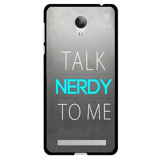 Snooky Printed Talk Nerdy Mobile Back Cover For Vivo Y28 - Multicolour