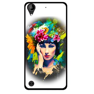 Snooky Printed Classy Girl Mobile Back Cover For HTC Desire 630 - Multi