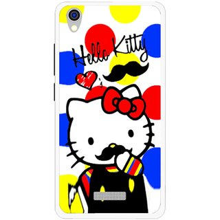 Snooky Printed moustache Kitty Mobile Back Cover For Lava Iris X9 - Multi