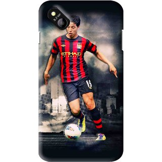 Snooky Printed Football Mania Mobile Back Cover For Micromax Bolt D303 - Multi
