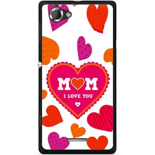Snooky Printed Mom Mobile Back Cover For Sony Xperia L - Multicolour