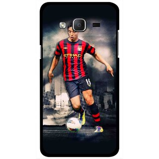 Snooky Printed Football Mania Mobile Back Cover For Samsung Galaxy On7 - Multicolour