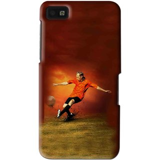Snooky Printed Football Mania Mobile Back Cover For Blackberry Z10 - Multi