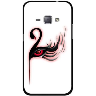 Snooky Printed Eye Art Mobile Back Cover For Samsung Galaxy J1 - Multicolour