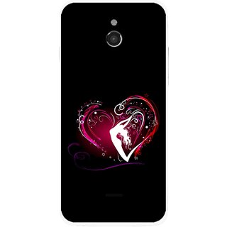 Snooky Printed Lady Heart Mobile Back Cover For Infocus M2 - Multicolour