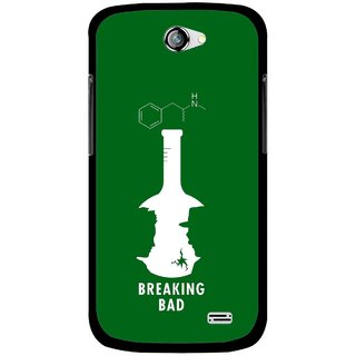 Snooky Printed Breaking Bad Mobile Back Cover For Gionee Pioneer P2 - Green