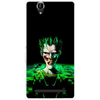 Snooky Printed Daring Joker Mobile Back Cover For Sony Xperia T2 Ultra - Green