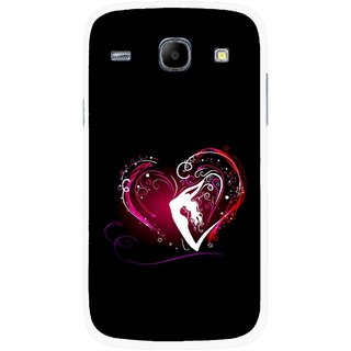 Snooky Printed Lady Heart Mobile Back Cover For Samsung Galaxy Core - Multicolour