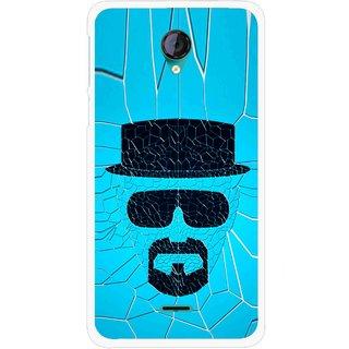 Snooky Printed Beard Man Mobile Back Cover For Micromax Canvas Unite 2 - Multicolour