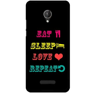 Snooky Printed LifeStyle Mobile Back Cover For Micromax Canvas Spark Q380 - Black