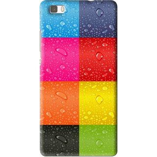 Snooky Printed Water Droplets Mobile Back Cover For Huawei Ascend P8 Lite - Multi