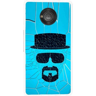 Snooky Printed Beard Man Mobile Back Cover For Micromax Yu Yuphoria - Multicolour
