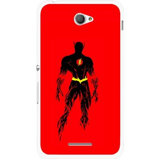 Snooky Printed Electric Man Mobile Back Cover For Sony Xperia E4 - Red