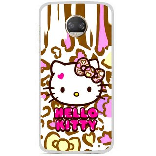 Snooky Printed Cute Kitty Mobile Back Cover For Motorola Moto Z2 Play - Multicolour