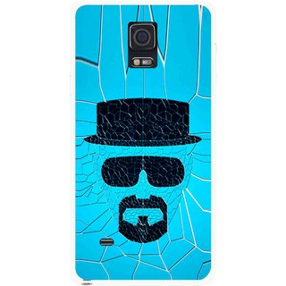 Snooky Printed Beard Man Mobile Back Cover For Samsung Galaxy Note 4 - Multicolour