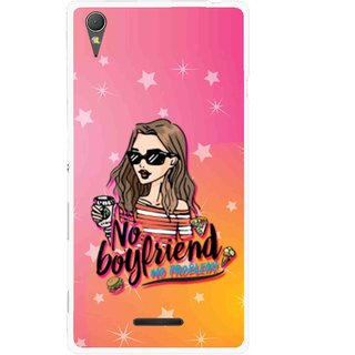 Snooky Printed No Boyfriend Mobile Back Cover For Sony Xperia T3 - Multicolour