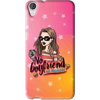 Snooky Printed No Boyfriend Mobile Back Cover For HTC Desire 626 - Multi